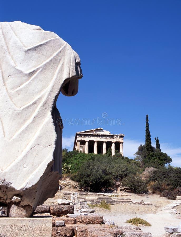 Temple Hephaisteion (Theseion). Stock Photo