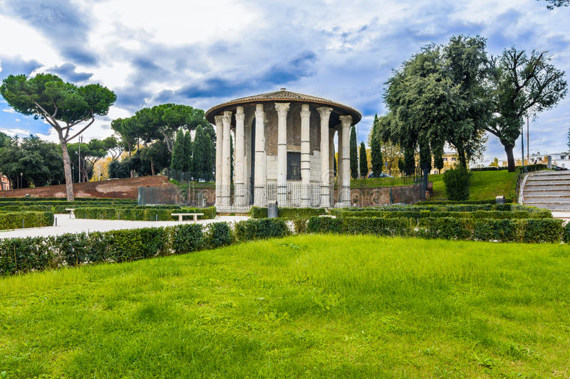 Temple of Hercules Victor in Rome royalty free stock photos