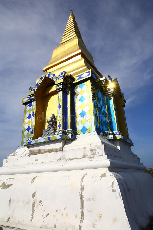 Temple on hill royalty free stock images