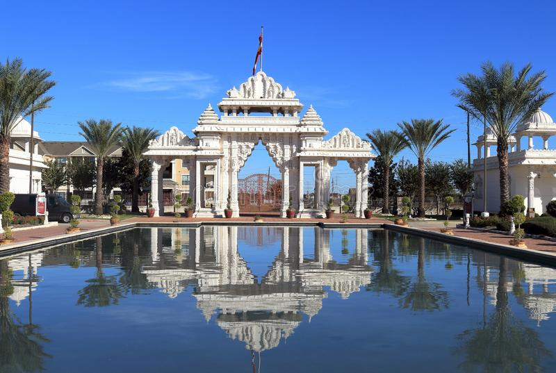 Temple hindou, BAPS Swaminarayan Shri Swaminarayan Mandir à Houston, le Texas photographie stock