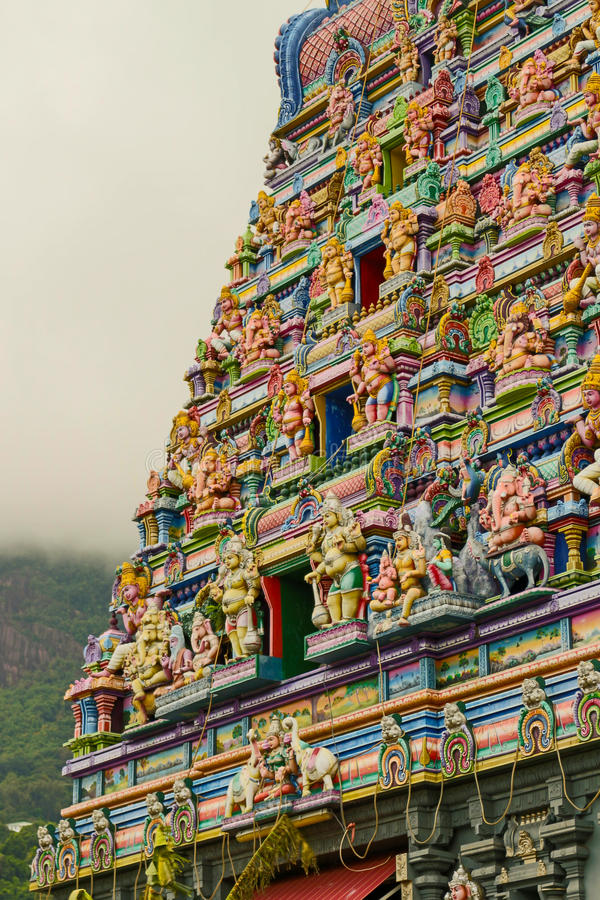 Temple hindou en Victoria Mahe Seychelles photographie stock libre de droits