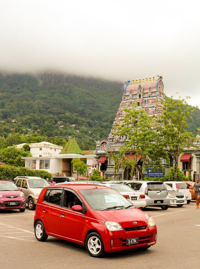 Temple hindou en Victoria Mahe Seychelles images libres de droits