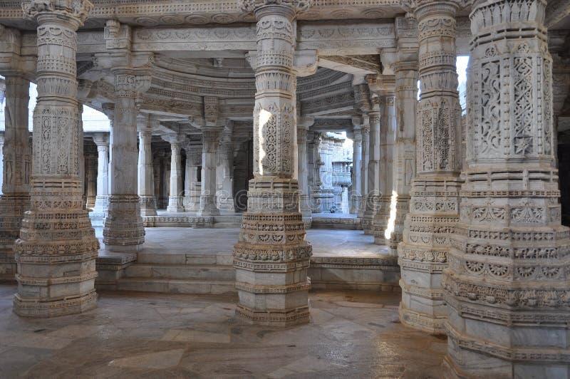 Temple hindou indien - pilier de marbre photo stock