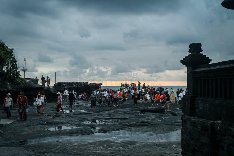 Temple hindou Pura Tanah Lot sur Bali, Indonésie image stock