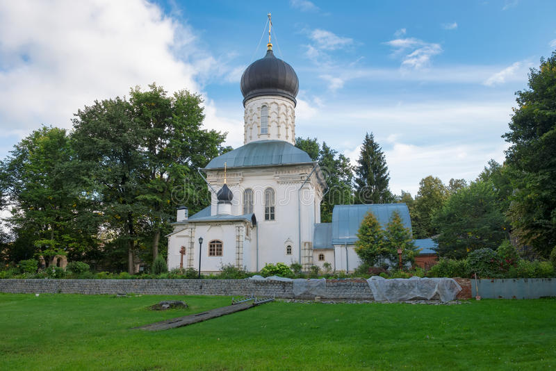 The temple in honor of the Great Martyr. Panteleimon (1915-1917) in the Manor Vassilyevskoe (Marino), Moscow region stock photo