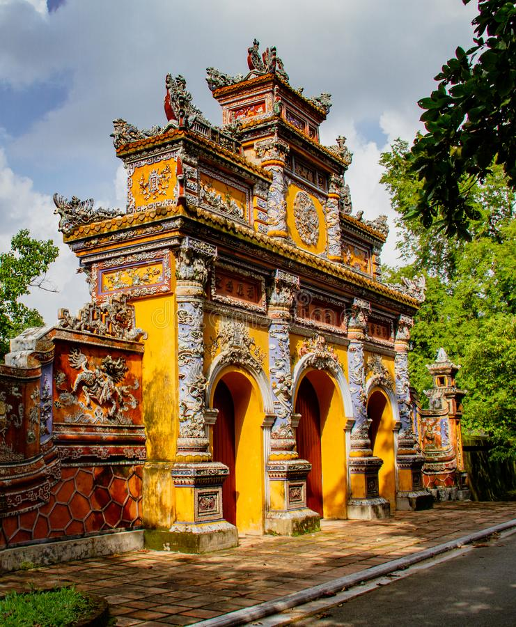 Temple in Hue Ann, Vietnam. Temple Gates in Hue Ann, Vietnam royalty free stock photography