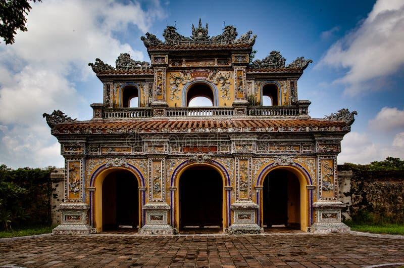 Temple in Hue Ann, Vietnam. Temple Gates in Hue Ann, Vietnam stock photos