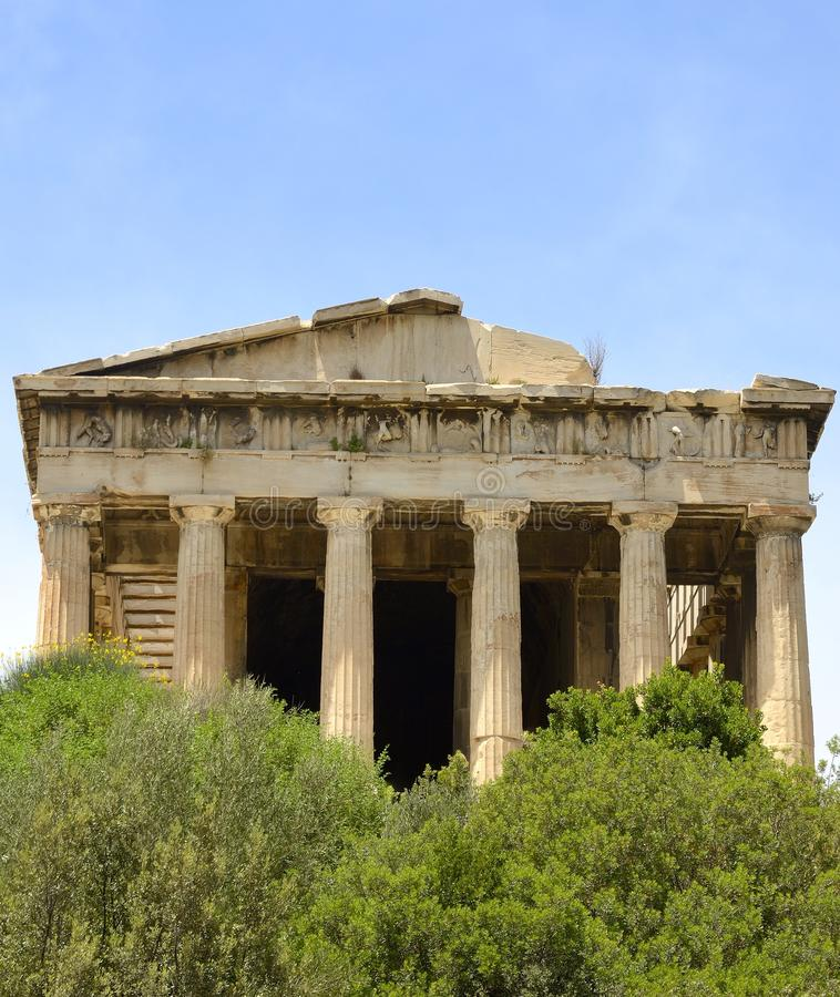 Download Temple of Hyphaestus stock photo. Image of statues, goddesses - 33345416