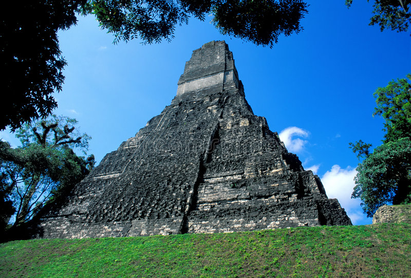 Tikal Temple 1 stock photo. Image of burial, classic ...