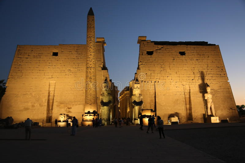 A temple I visited at luxur Egypt royalty free stock photos