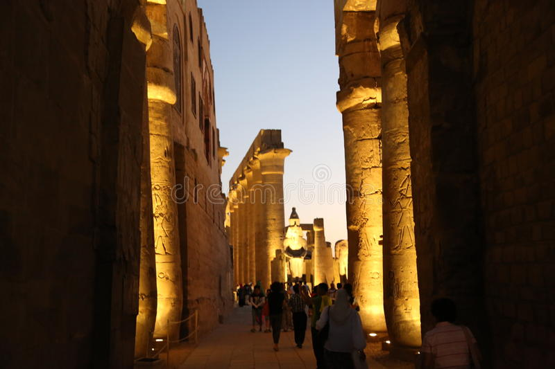 A temple I visited at luxur Egypt royalty free stock photo