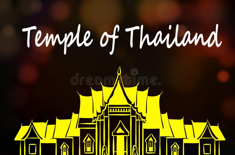 Temple. Image of temple in Thailand. Illustration stock illustration