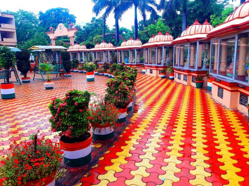 This is a TEMPLE India near BARDOLI. God palace peace GUJARAT BARDOLI india art GANPATIJI all GOD HINDU stock photo
