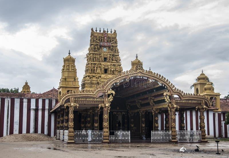 Temple indien avec la belle architecture photo libre de droits