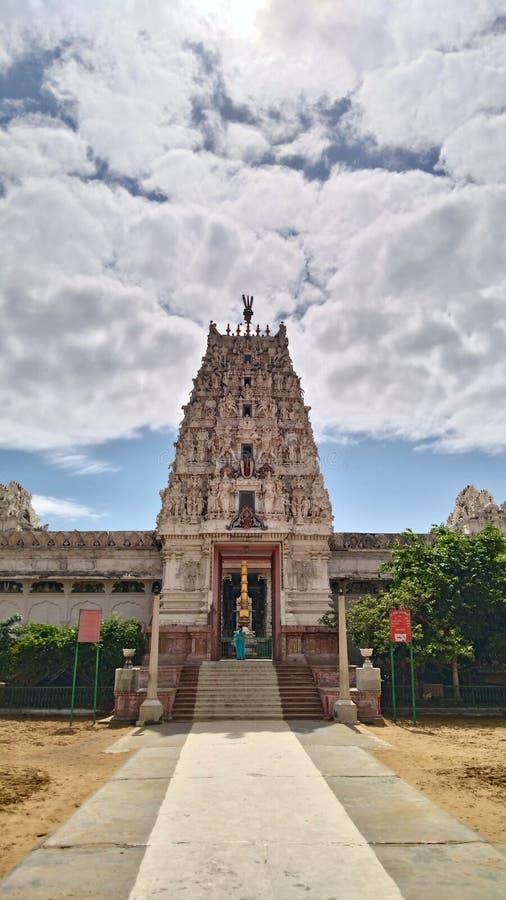 Temple indien du sud de narana de lakshmi de seigneur d'Inde photos libres de droits