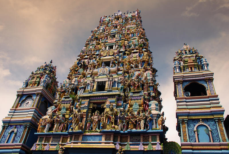 Temple indou photographie stock libre de droits