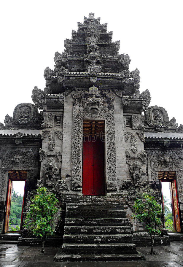 Temple indou antique, Bali photographie stock libre de droits