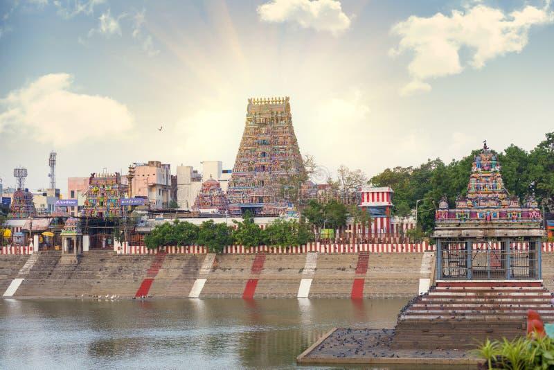 Temple indou de Kapaleeshwarar de belle vue, Chennai, Tamil Nadu, photo libre de droits
