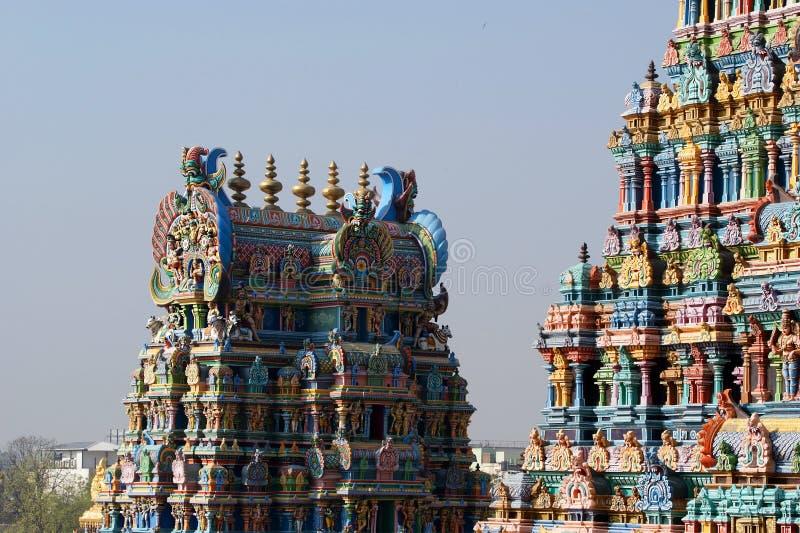 Temple indou de Meenakshi à Madurai, Tamil Nadu, Inde du sud photos stock