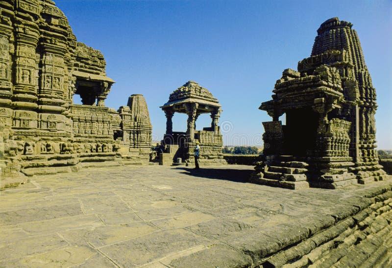 Temple indou de shiva de 11ème-12ème siècle de Gonde?vara de temple de Gondeshwar dans Sinnar, secteur de Nashik de maharashtra photo libre de droits