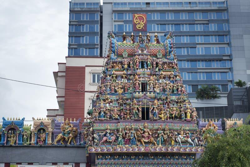 Temple indou de Singapour photographie stock libre de droits