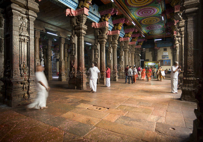 Temple indou de Sri Meenakshi images stock
