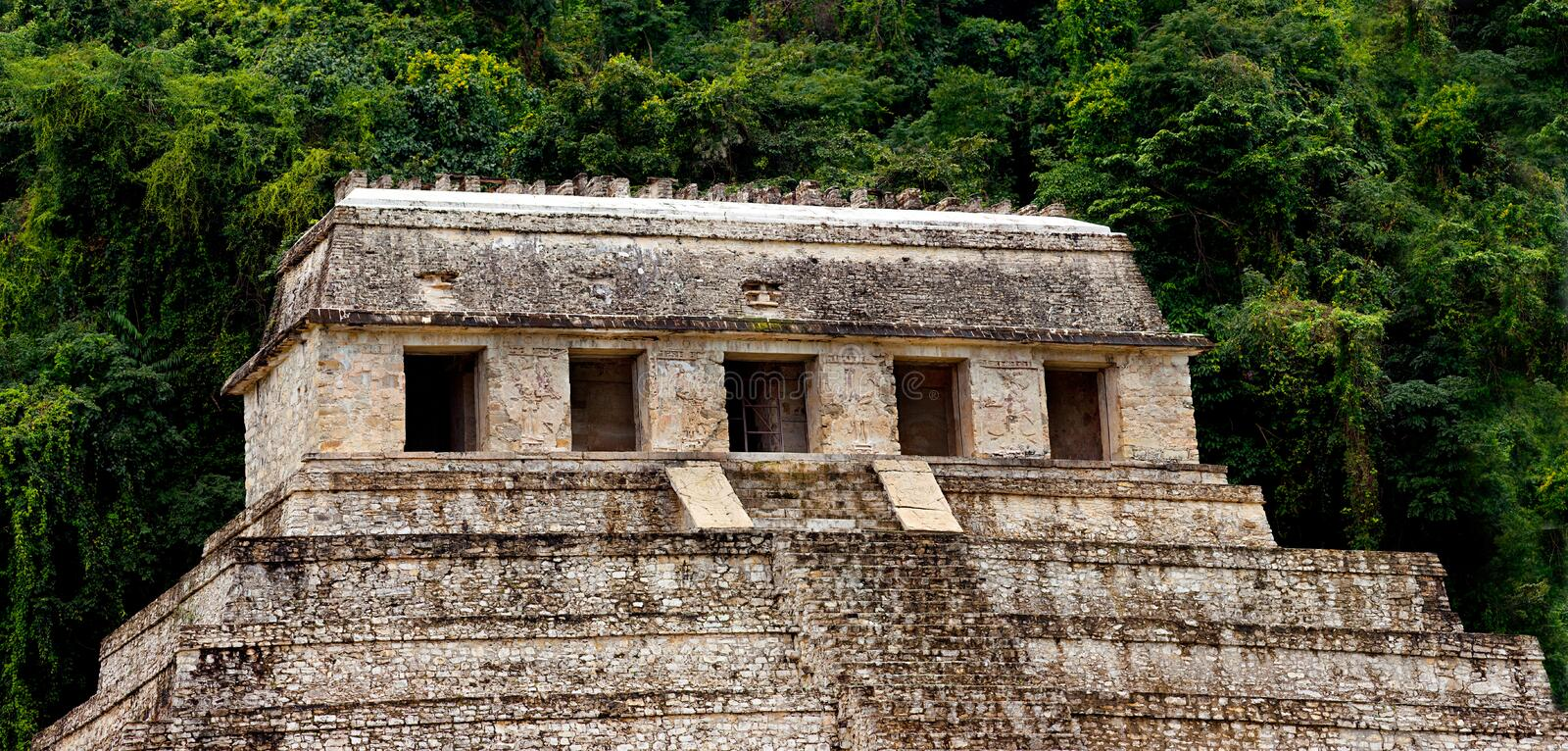 Temple of Inscriptions Palenque. Mexico royalty free stock image