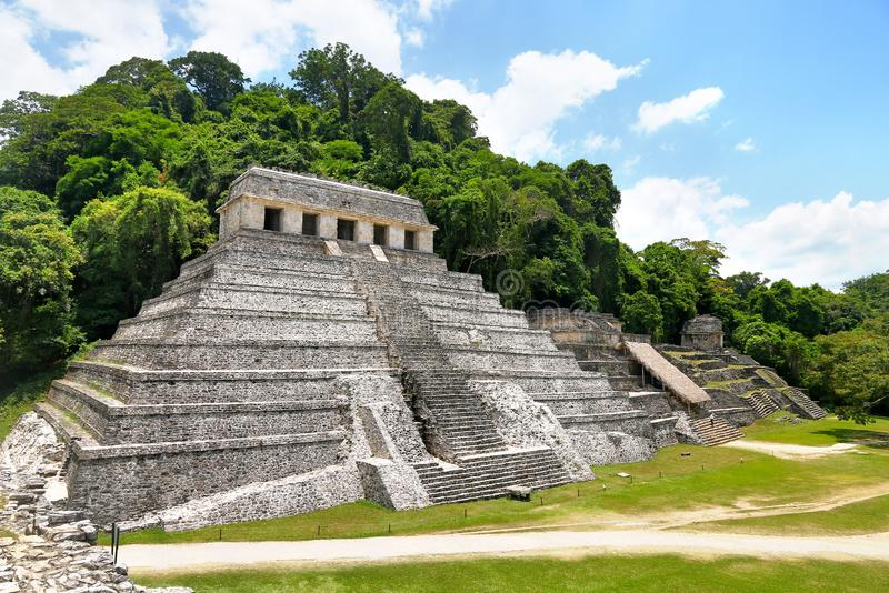 Temple of Inscriptions in Palenque, Mexico. Temple of Inscriptions in Palenque, Chiapas, Mexico royalty free stock photo