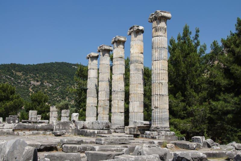 Temple ionique de colonnes d'Athéna photos stock