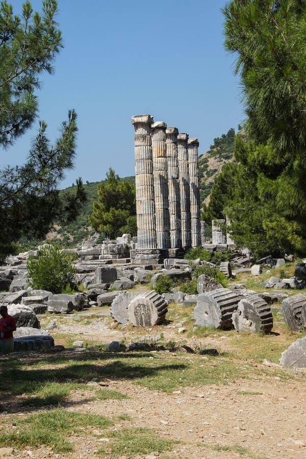 Temple ionique de colonnes d'Athéna photographie stock
