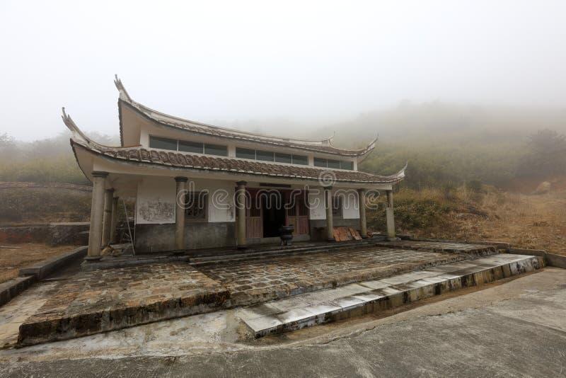 Temple isolé sur la montagne jiuxianshan, adobe RVB images stock