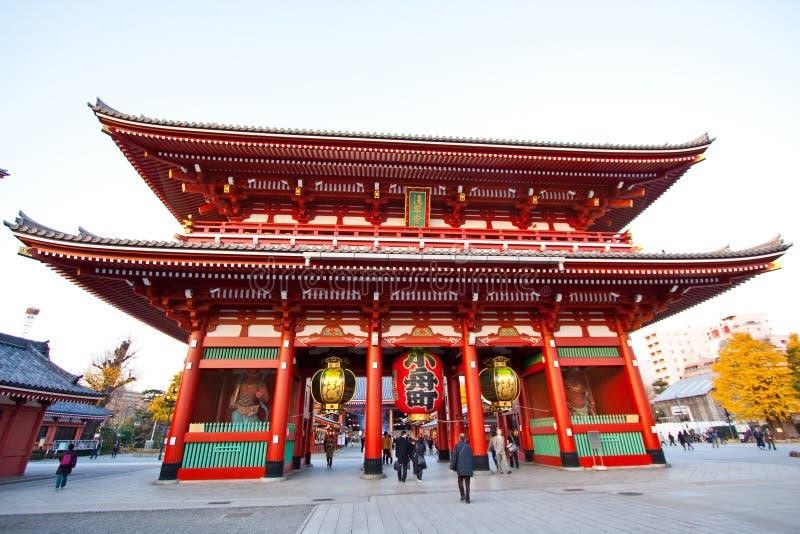 Temple in Japan, Sensoji stock photography