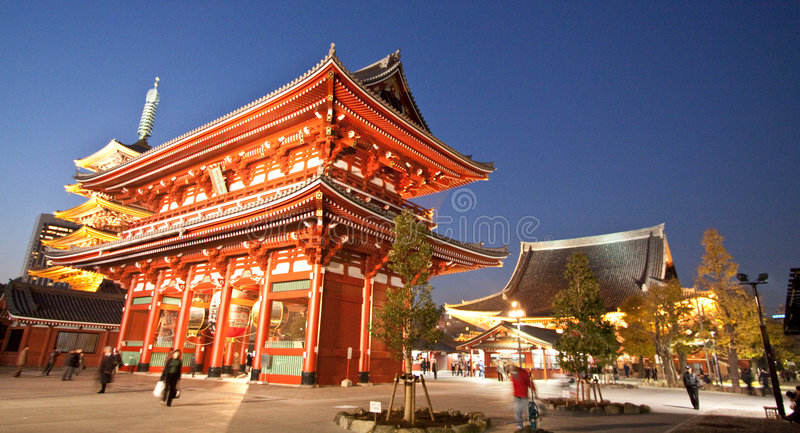 Temple in Japan, Sensoji gate structure royalty free stock photos