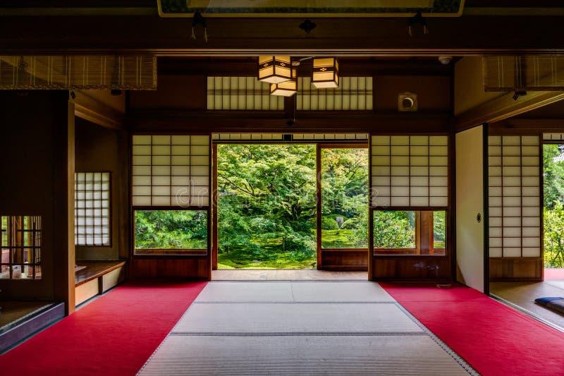 Temple japonais Unryu à Kyoto image stock