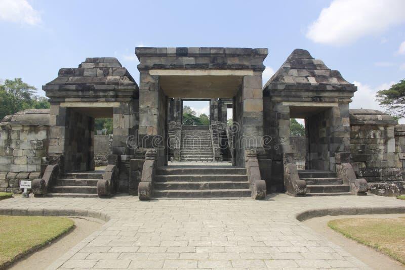 Temple Jogjakarta de Ratu Boko images libres de droits