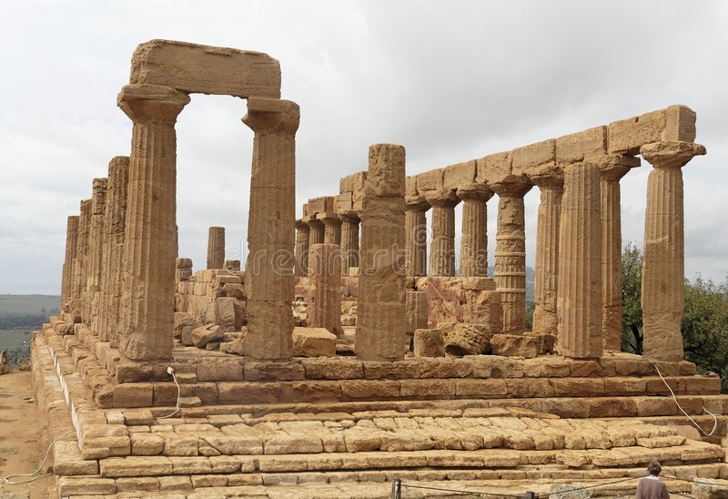 Download Temple of Juno Agrigento stock photo. Image of path, travel - 1491916