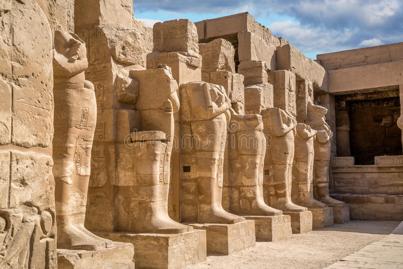 Temple Karnak stock photo