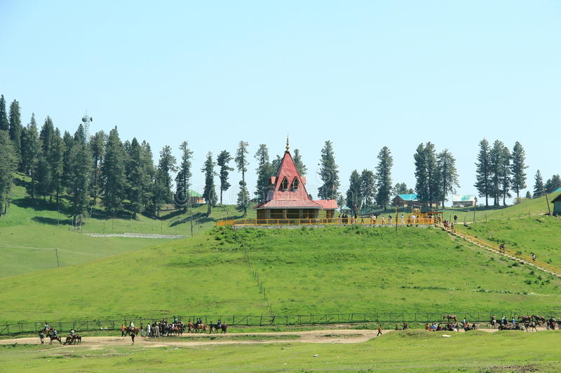 Temple In Kashmir. royalty free stock image