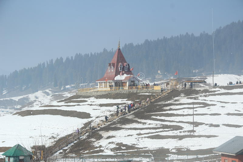 Temple In Kashmir. stock images