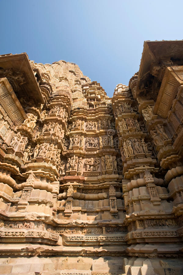 Download Temple in Khajuraho stock image. Image of facade, detail - 21342667