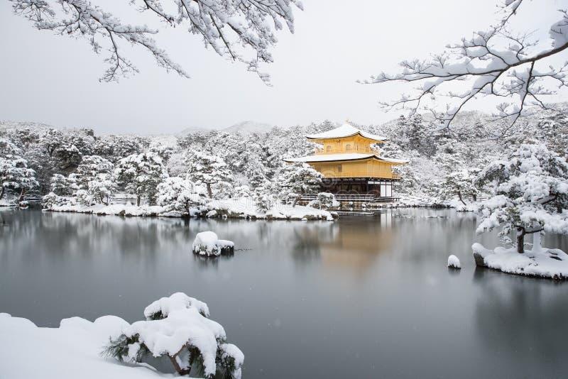 Temple Kinkakuji de zen image stock
