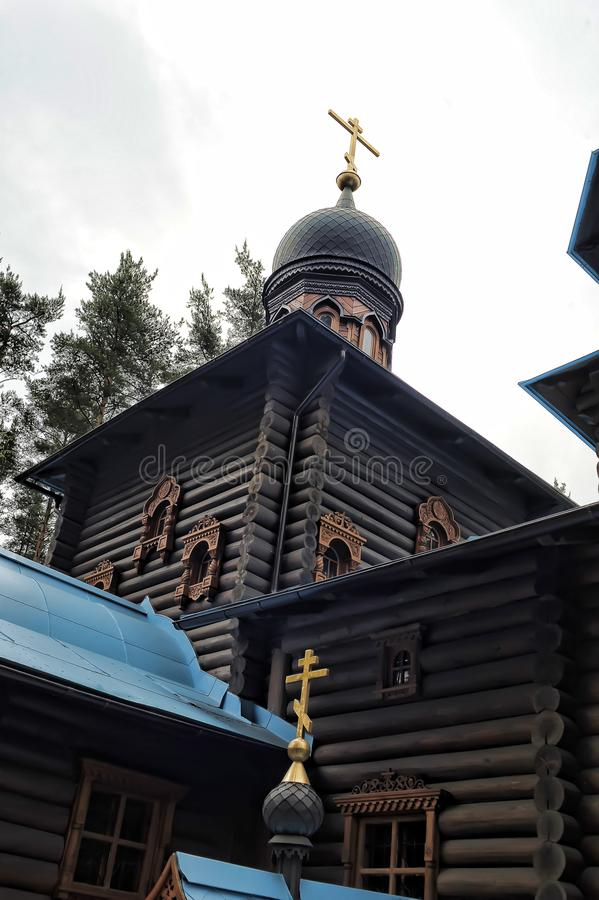 Temple of the Konevskaya Icon of the Mother of God stock photo