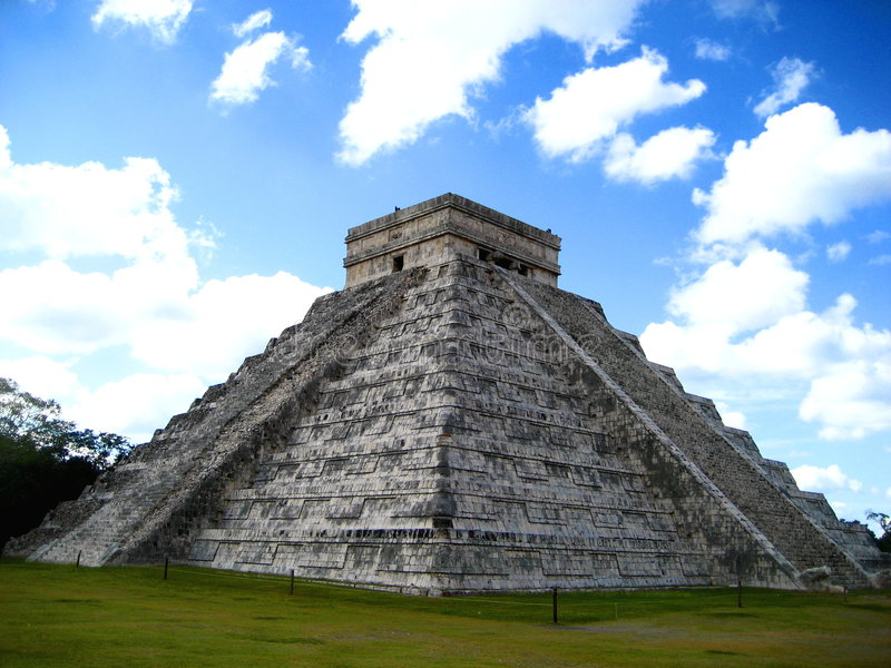 The Temple of Kukulcan stock photo