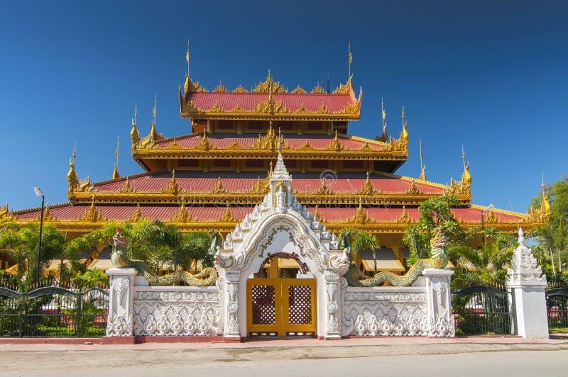 Temple Kyauk Taw Gyi Pagoda in Yangon, Myanmar Burma.  stock photos