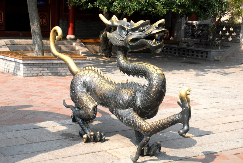 temple kylin Thean de Hou, Qingdao, Chine photo stock
