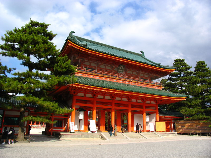 Download A Temple in Kyoto stock photo. Image of purity, shinto - 390992