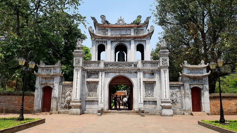 Temple of Literature. The Temple of Literature, a temple of Confucius in Hanoi, northern Vietnam royalty free stock photo