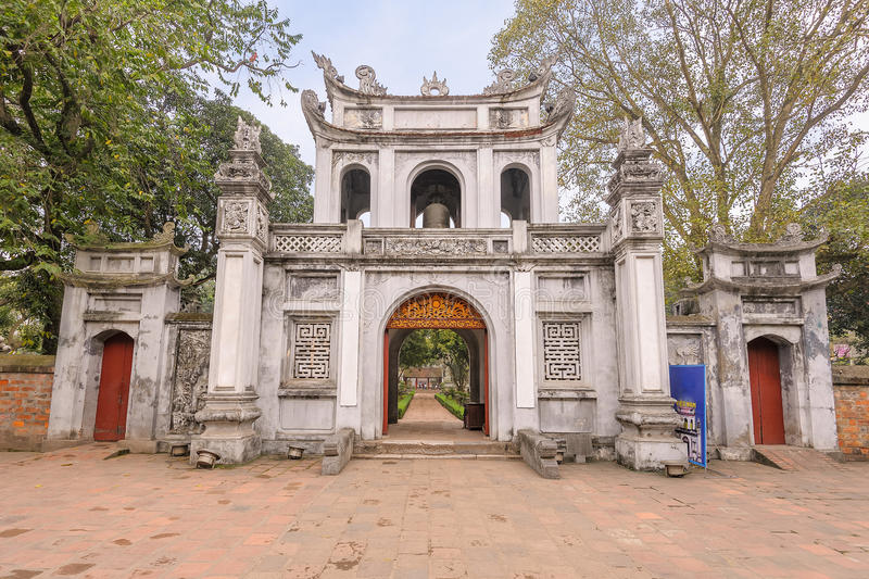 Temple of Literature. Gate to the Temple of Literature in Hanoi, Vietnam royalty free stock images