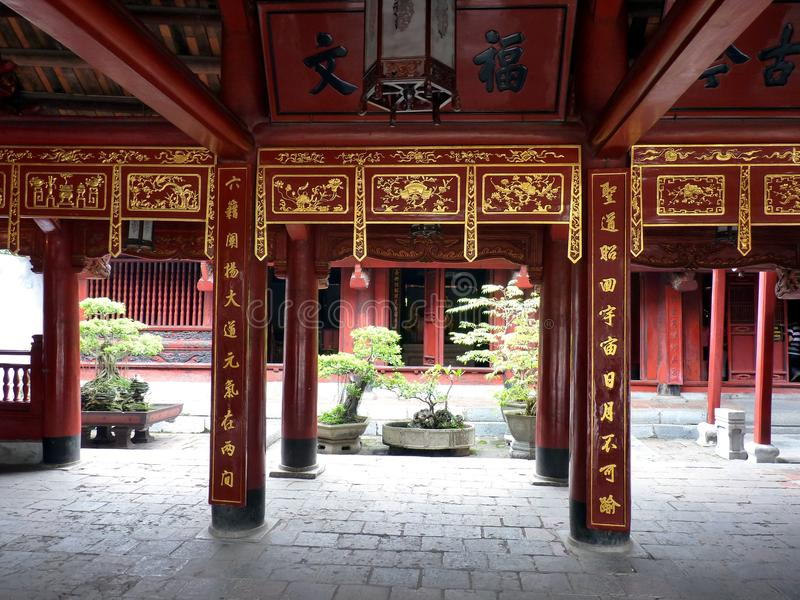 Temple of literature. In Hanoi, Vietnam royalty free stock photos