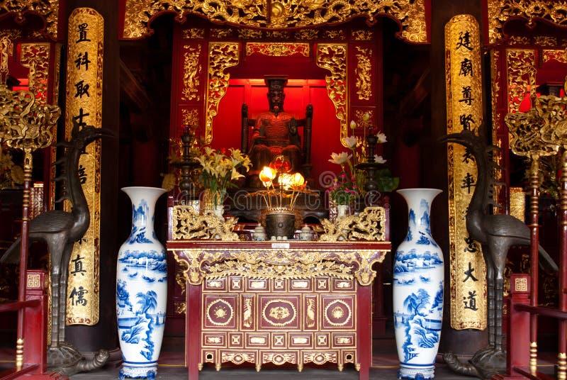 Download Temple Of Literature, Statue Stock Photo - Image: 15938036
